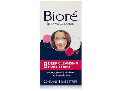 Biore Deep Cleansing Pore Strips, 8 Nose Strips