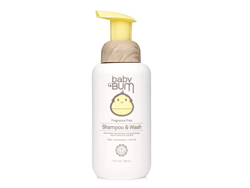 Sun Bum Baby Bum Foaming Shampoo & Wash, Fragrance-Free