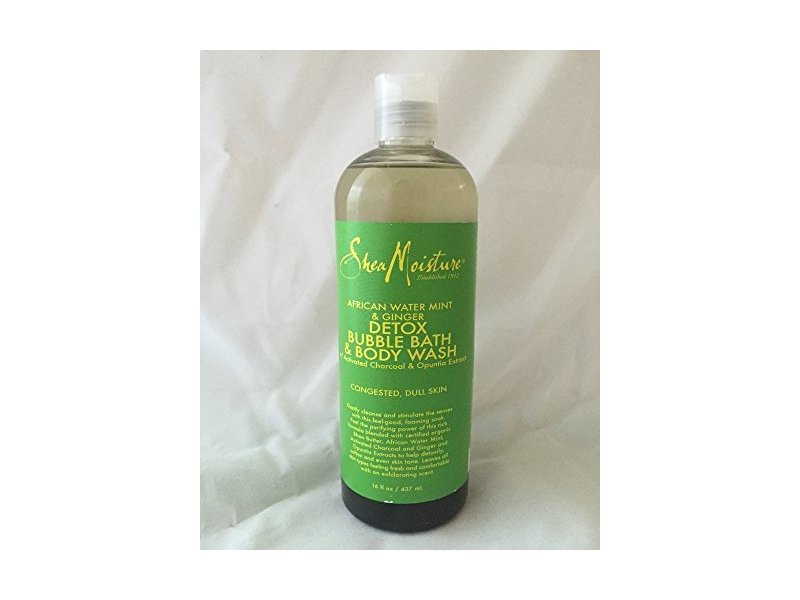 SheaMoisture African Water Mint & Ginger Detox Bubble Bath & Body Wash, 16 fl. oz.