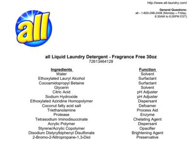All Fresh Clean Essentials Laundry Detergent Fragrance