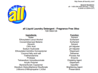 All Fresh Clean Essentials Laundry Detergent, Fragrance Free, 30 Ounce (23 loads) - Image 7