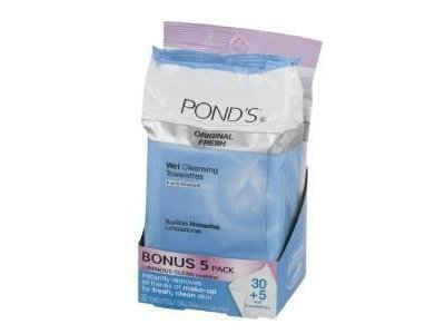 Pond's Wet Cleansing Towelettes with Vitamin E, Original Fresh, 30 Ct.