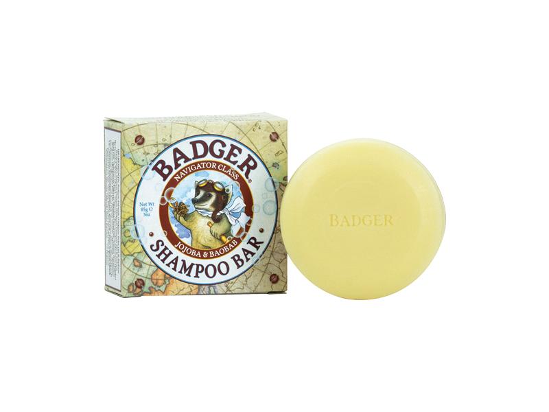 Badger Navigator Class Shampoo Bar, Jojoba & Baobab, 3 oz