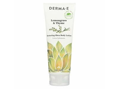 Derma E Lemongrass & Thyme, Restoring Shea Body Lotion, 8 Oz
