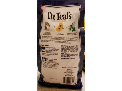 Dr. Teal's Pure Epsom Salt Muscle Recovery Soak, Arnica Menthol Eucalyptus, 2 Lb (Pack of 2) - Image 4