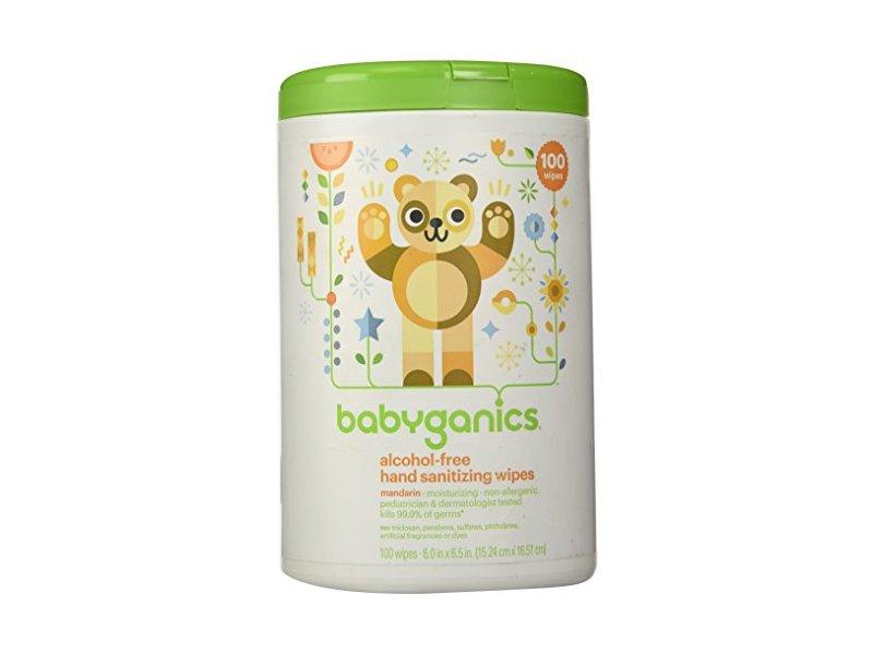 Babyganics Alcohol-Free Hand Sanitizing Wipes Canister Mandarin, 100ct