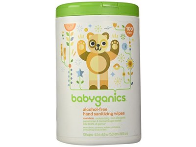 Babyganics Alcohol-Free Hand Sanitizing Wipes Canister Mandarin, 100ct