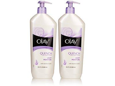 Olay Quench Daily Body Lotion - Light Moisture - With Vitamins E & B3 - Net Wt. 20.2 FL OZ (600 mL)