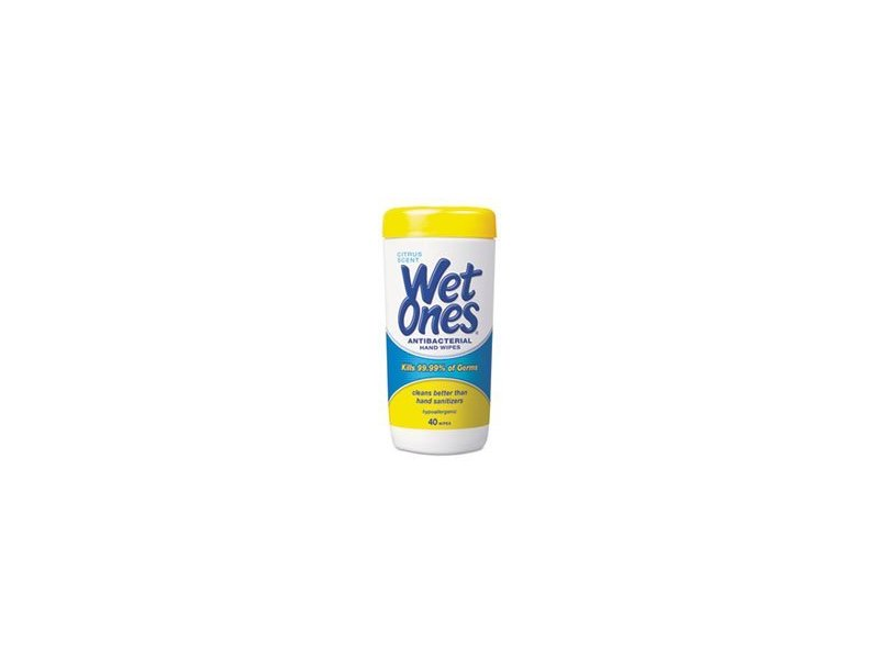 Wet Ones Antibacterial Hand Wipes, Citrus, 40 count