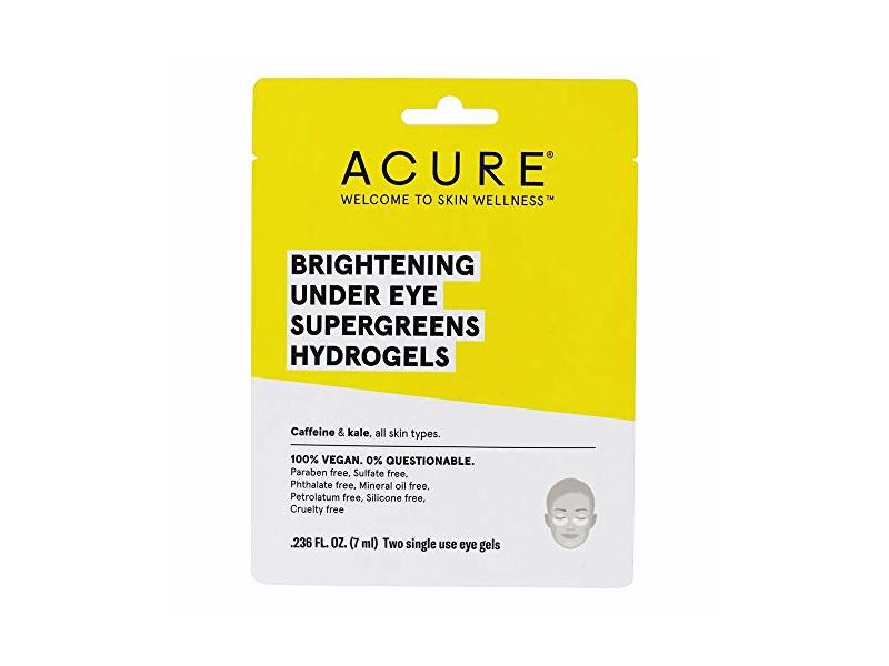 ACURE Brightening Under Eye Supergreens Hydrogels Mask - 1 Count