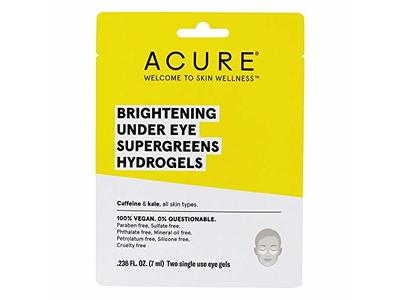ACURE Brightening Under Eye Supergreens Hydrogels Mask - 1 Count - Image 1