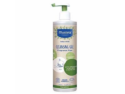 Mustela Baby-Child Cleansing Gel, Fragrance Free, 13.52 fl oz/400 mL
