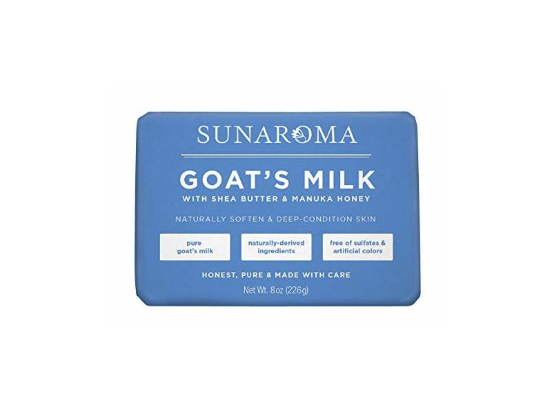 Sunaroma Goat's Milk W/ Shea Butter & Manuka Honey Soap (8 Ounce)