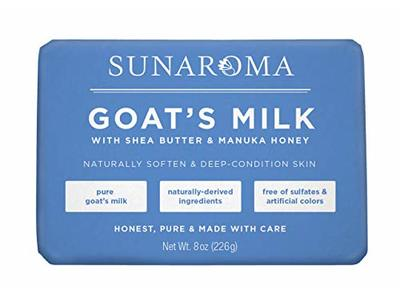 Sunaroma Goat's Milk W/ Shea Butter & Manuka Honey Soap (8 Ounce)