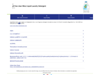 All Free Clear Liquid Laundry Detergent, 88 fl oz - Image 3