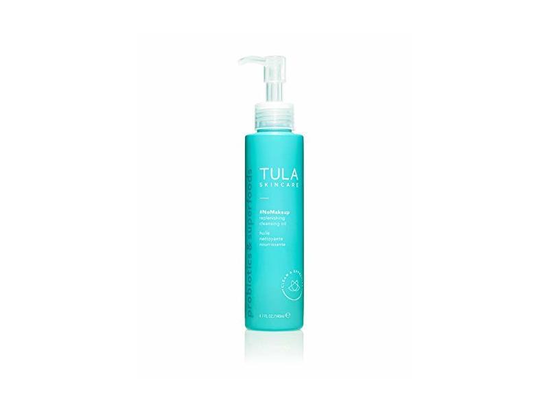 Tula Skincare #NoMakeup Replenishing Cleansing Oil, Probiotic Skincare, 4.7 fl oz/140 ml