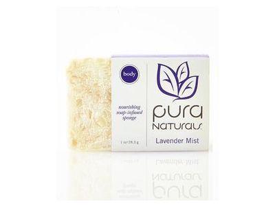 Pura Naturals Exfoliating Soap-Infused Bar, Lavender Mist, 1 oz