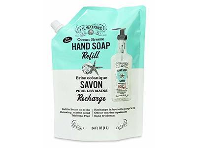 J.R. Watkins Ocean Breeze Hand Soap Refill Pouch 34oz/1 Liter - Image 1