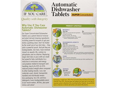 If You Care Automatic Dishwasher Tablets, Free & Clear, 40 Count - Image 3