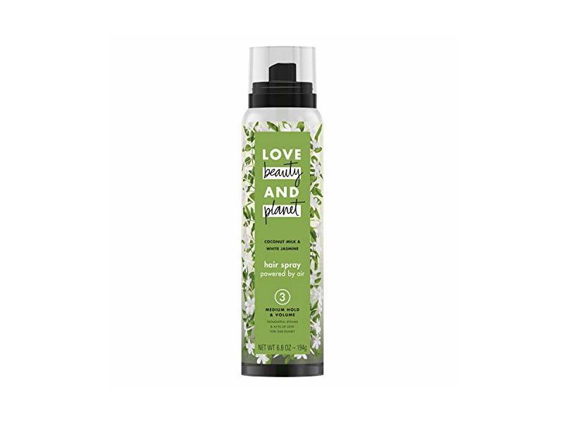 Love Beauty And Planet Coconut Milk White Jasmine Hair Spray, Medium Hold & Volume 6.8 oz (Pack of 2)