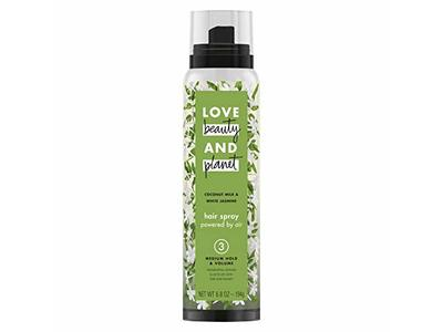 Love Beauty And Planet Coconut Milk White Jasmine Hair Spray, Medium Hold & Volume 6.8 oz (Pack of 2)