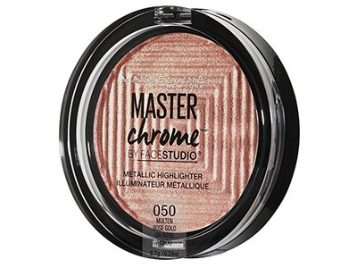 Maybelline New York Facestudio Master Chrome Metallic Highlighter Makeup, Molten Rose Gold, 0.24 oz. - Image 5