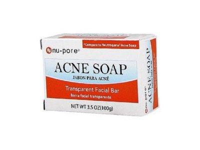 Nu-pore Transparent Acne Facial Soap, 3.5 Oz (2 Pack)