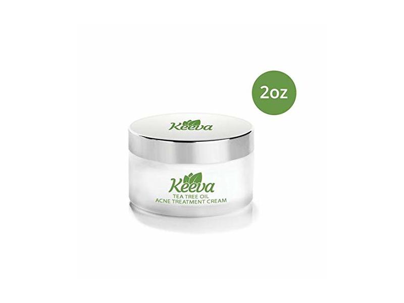Keeva Organics Acne Treatment Cream With Secret Tea Tree OIL Formula (2oz)