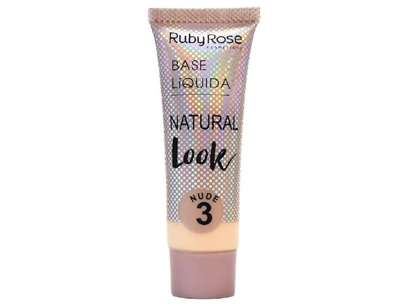 Ruby Rose Base Liquida Natural Look, Nude 3, 29 mL