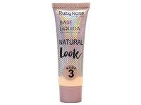 Ruby Rose Base Liquida Natural Look, Nude 3, 29 mL - Image 2