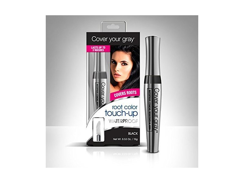 Cover Your Gray Waterproof Root Color Touch-Up, Black, 0.53 oz