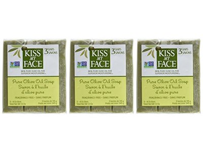 Kiss My Face Naked Pure Olive Oil Bar Soap, 4 Ounce, 3 Count (3 Pack)(Packaging may vary) - Image 3