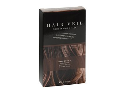 FHI Brands Hair Veil Powder Hair Filler, Dark Brown, 0.14 oz