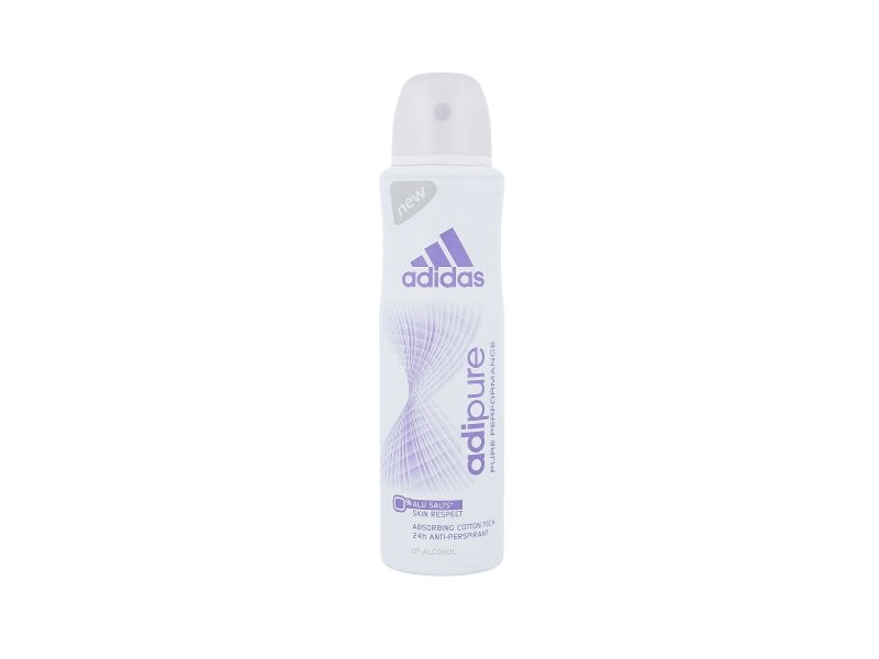 Adidas Adipure Deodorant Spray Antiperspirant, 150ml