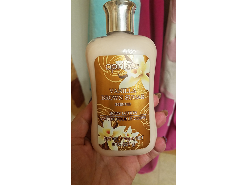 April Bath & Shower Vanilla Brown Sugar Body Lotion, 8 Oz.
