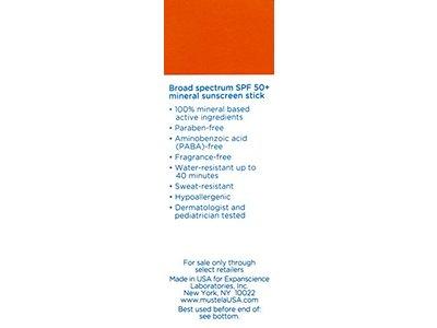 Mustela Broad Spectrum SPF 50-Plus Mineral Sunscreen Stick, 0.5 oz. - Image 7