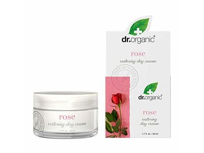 Dr.Organic Restoring Day Cream with Organic Rose Extract, 1.7 fl oz