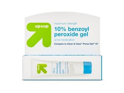 Up Up 10 Benzoyl Peroxide Gel Acne Medication 1 Oz Ingredients