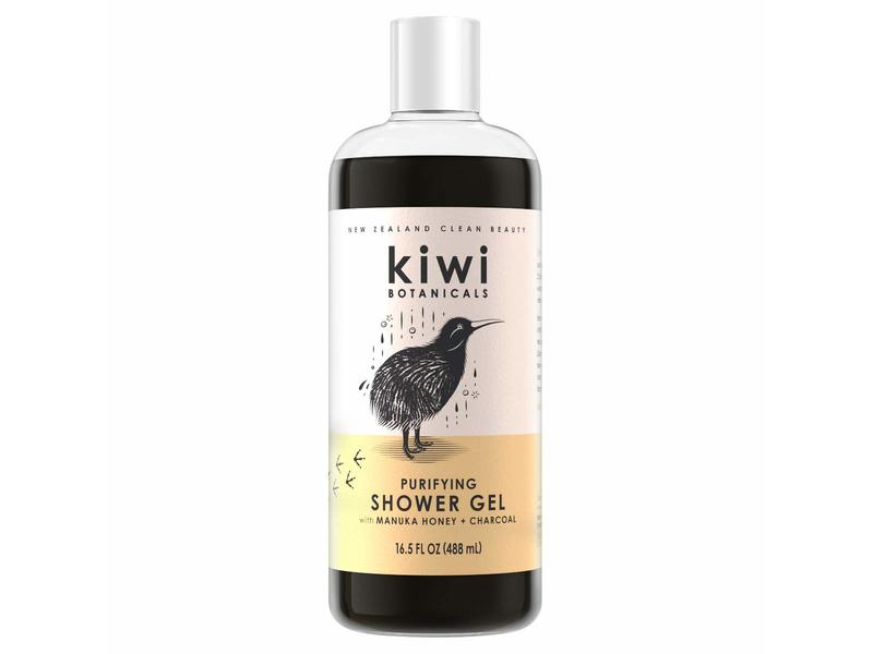 New Zealand Clean Beauty Kiwi Botanicals Purifying Shower Gel, 16.5 fl oz/488 ml