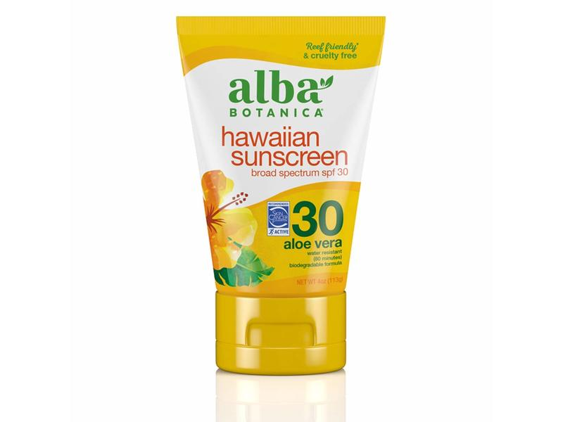 Alba Botanica Hawaiian sunscreen, Spf 30, Aloe Vera, 4 oz/113 g
