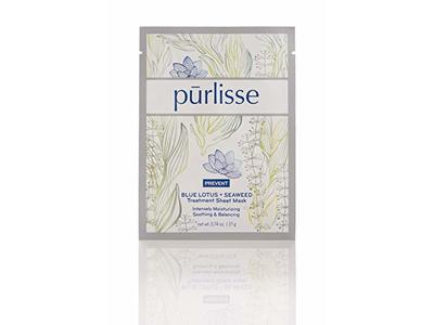 Purlisse Blue Lotus + Seaweed Treatment Sheet Mask, 0.74 Ounce