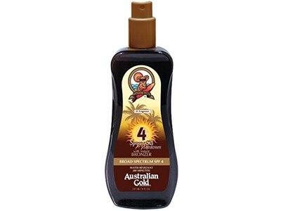 Australian Gold Spray Gel with Instant Bronzer, SPF 4, 8 oz