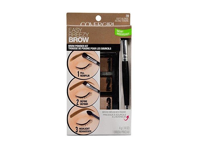 Covergirl Easy Breezy Brow Powder Kit, 720 Soft Blonde, 0.14 oz/4 g