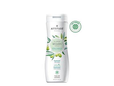 Attitude Super Leaves Science Natural Shower Gel, Olive Leaves, 16 fl oz