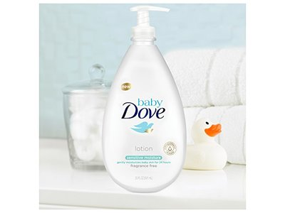 Baby Dove Lotion, Sensitive Moisture 20 oz - Image 4