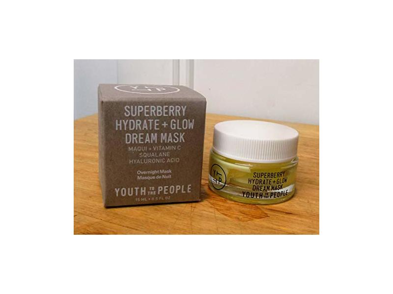 Youth to the People Superberry Hydrate + Glow Dream Mask, .5 oz