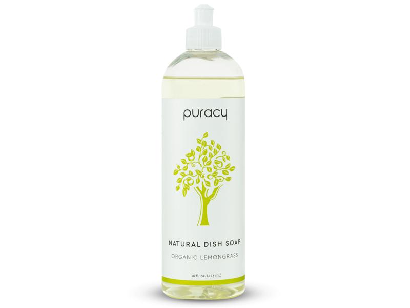 Puracy Natural Dish Soap, Organic Lemongrass, 16 fl oz (473 mL)