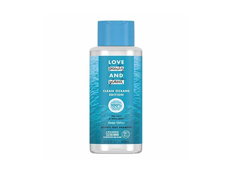 Love Sea Salt & Bergamot Deep Detox Shampoo, Clean Oceans Edition, 13.5 fl oz