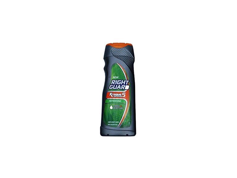 Right Guard Total Defense 5 5 in 1 Deodorizing Hair & Body Wash, Refreshing, 16 oz