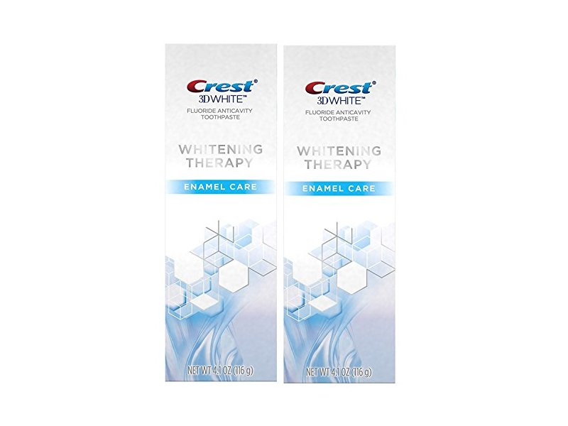 Crest 3D White Whitening Therapy Enamel Care Fluoride Anticavity Toothpaste 4.1 oz (Pack of 2)